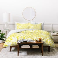 Lisa Argyropoulos Daisy Daisy In Golden Sunshine Duvet Cover