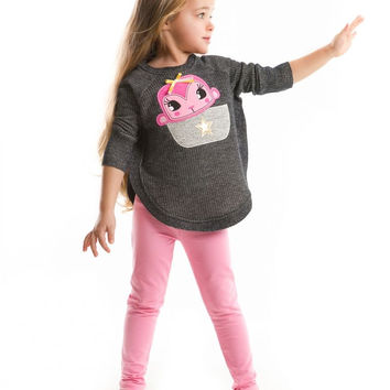 MUSHI Fall 2016 Dear Monkey Tunic & Leggings Set - Toddler & Girls 2Y, 3Y, 4Y, 5Y, 6Y, 7Y, 8Y