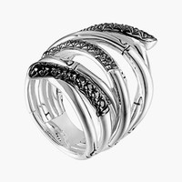 Women's John Hardy 'Bamboo - Lava' Extra Wide Sapphire Stack Ring