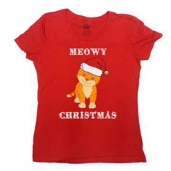 Funny Christmas Shirt Meowy Christmas Gifts For Cat Lovers Merry Christmas Christmas Gift Ideas Cat Lover Gift Christmas Presents - SA503