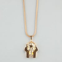 The Gold Gods Pharaoh Head Necklace Gold One Size For Men 23971562101