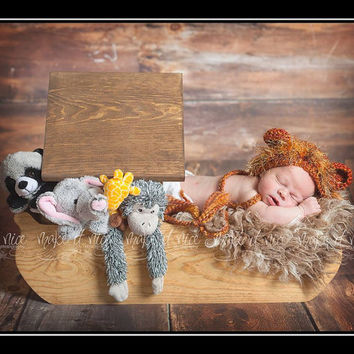 PJ's Noah's Ark Prop Stained wood newborn photography prop