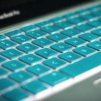 Turquoise Apple Keyboard Cover - $1 | The Gadget Flow