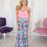 Kaleidoscope Perfection Maxi Neon Pink