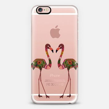 flamingos transparent iPhone 6s case by Sharon Turner | Casetify