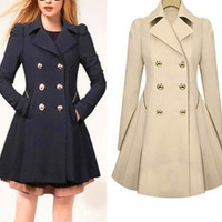 Fashion Womens Ladies Lapel Long Winter Parka Coat Trench Outwear Jacket dress(Size S-XXL) = 1930259972