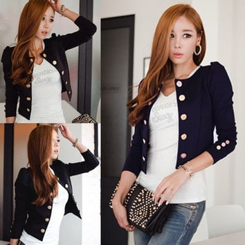New Spring Fashion Blazer Short Sexy Casual Suits Jacket Coat Outerwear For Women Slim Blazer ffp = 1929981764