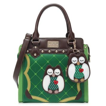 2017 New Fashion Women Handbags Owl Pattern Ladies Shoulder Messenger Bags Cartoon Bag Luxury Famous Brand Fresh Crossbody Bags
