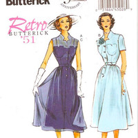 50s Rockabilly dress 1951 cocktail dress slip belt Butterick 5920 sewing pattern re issue Rockabilly Sz 6 to 14 Uncut or 14 to 22 uncut