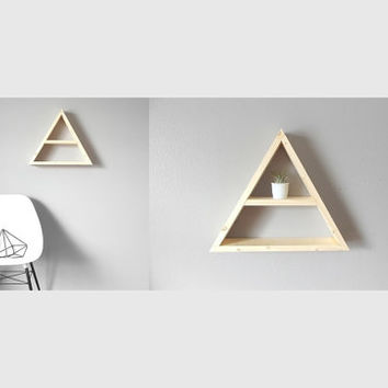 Large Geometric Shelf . Triangle Shelf . Handmade Shelving . Rustic . Modern . Minimal