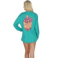 Get Your Shine On Long Sleeve Tee in Tropical Green by Lauren James - FINAL SALE