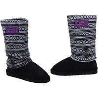 LSU Tigers Ladies Retro Boots - Black/White