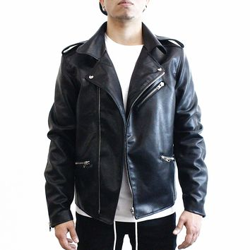 Abe Leather Moto Jacket
