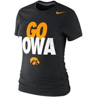 Nike Iowa Hawkeyes Ladies Go Iowa Local Slim Fit T-Shirt - Black