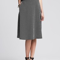 Banana Republic Womens Dot Jacquard Midi Skirt