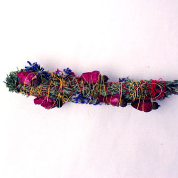 Floral Smudge Stick Wand
