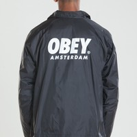 OBEY WORLDWIDE AMSTERDAM COACHES JACKET