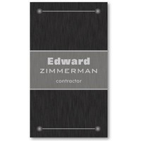Brushed Metal: Titanium Textured Business Card from Zazzle.com
