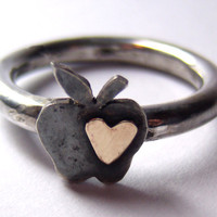 Once Upon a Time Evil Queen silver and gold ring by ArdentArgent
