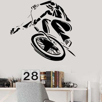 Vinyl Wall Decal BMX Bike Cyclist Teen Room Art Urban Style Stickers Unique Gift (ig3157)