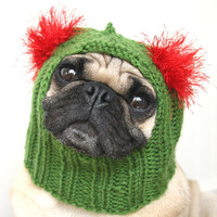 Kissle Toe - Christmas Holly Dog Hoodie  (by jessicalynneart)