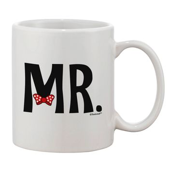 Matching Mr and Mrs Design - Mr Bow Tie Printed 11oz Coffee Mug by TooLoud