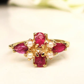 Best Vintage Seed Pearl Rings Products On Wanelo