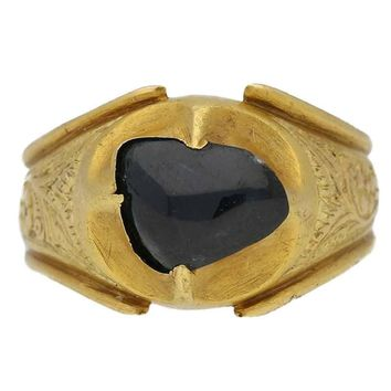 Medieval Duchess of Lancaster Sapphire Gold Posy Ring