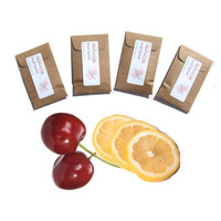 Cherry Lemonade Scented Drawer Sachets - Gift For Teen Girls - School Locker Freshener - Red Yellow - Modern Rustic