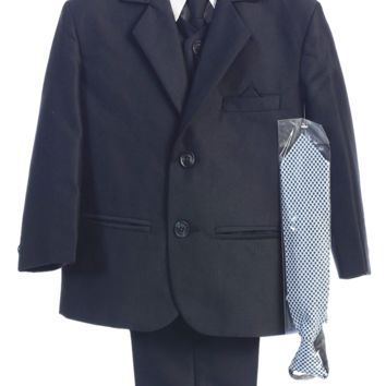Navy Blue Herringbone Weave Complete Dress Suit (Boys 6 months - size 14)
