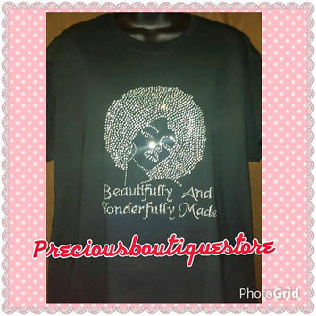 Beautifully and Wonderfully Made Rhinestone Shirt