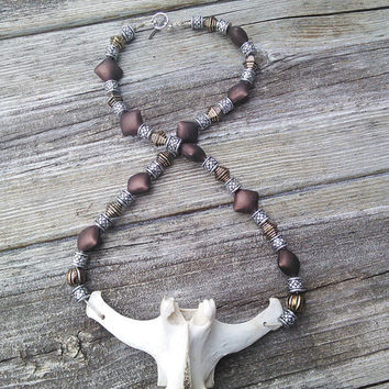 Bone Jewelry - Deer Bone Vertebrae Pendant - Mens Tribal Shaman Necklace - Mens Hemp Necklace - Spine necklace - Taxidermy Gypsy Cosplay