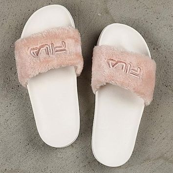 FILA disruptor2 Sandal Slipper Fur Flat Slipper Women Slipper Shoes