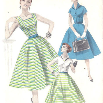 1950s Dress and Bolero Vintage Sewing Pattern by MissBettysAttic