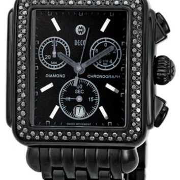 Michele Deco Noir Diamond Black IP Ladies Watch MWW06A000679