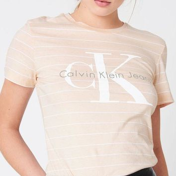 VONVJ2 Calvin Klein' Women's Cotton Stripe Tee Shirt