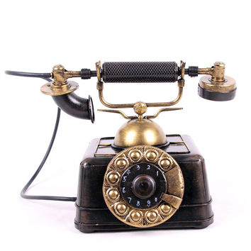 Home Decor Handcrafts Vintage Decoration Phone [6542814979]