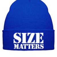 SIZE MATTERS EMBROIDERY HAT - Beanie Cuffed Knit Cap