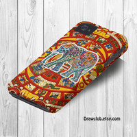 IPhone5 IPhone4 IPhone4S Case - Elephant aztec case By Drawclub