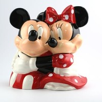 Mickey and Minnie Hugging - Cookie Jar