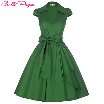 Belle Poque  Pin Up Plus   Clothing Summer Casual Party Office Gown Robe ete  50s Vintage Big Swing Dresses