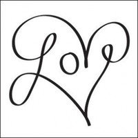 Love Heart Temporary Tattoo