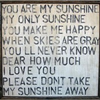 You Are My Sunshine Wooden Sign - Wooden Signs -  Wall Decor -  Home Decor | HomeDecorators.com