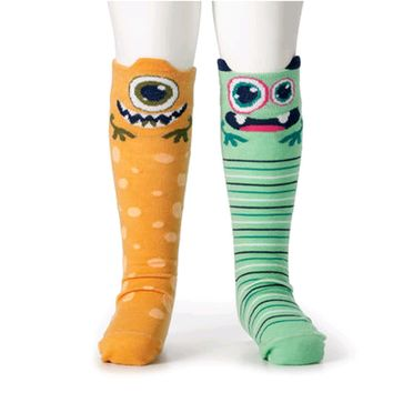 Novelty Socks ALIENS KNEE SOCKS Fabric Story Time Non Skid Soles 5004700342