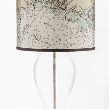 Coast of Maine Nautical Chart Lamp Shade