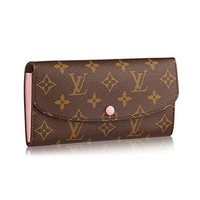 Louis Vuitton Monogram Canvas Monogram Canvas Emilie Wallet Article: M61289 Rose