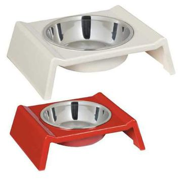 Zack and Zoey Retro Raised Melamine Dog Bowl