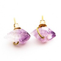 Brandy ♥ Melville |  Amethyst Crystal Earrings - Jewelry - Accessories