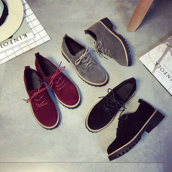 Autumn Korean Casual Low-cut Round-toe Shoes [9432944522]