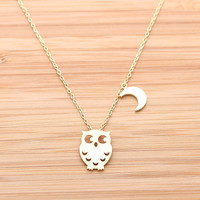 OWL & CREST necklace, 2 colors | girlsluv.it - handmade jewelry collection, ETSY, Artfire, Zibbet, Earrings, Necklace